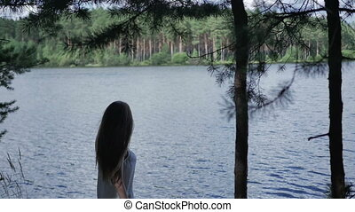 Girl near the river