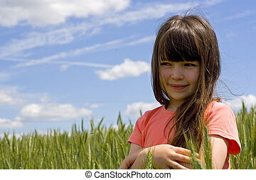 girl on a meadow