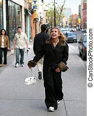 Girl on a street