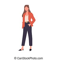 Girl on a white background. Vector illustration EPS 10.