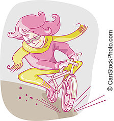 Girl On Bicycle