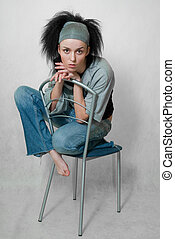 girl on chair