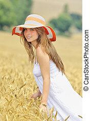 girl on field