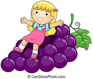 Girl on Grapes