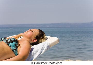 Girl on seacoast