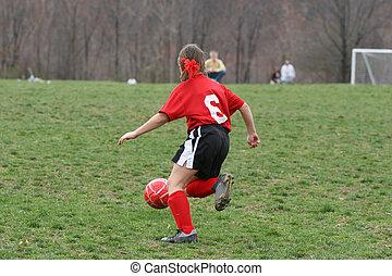 Girl on Soccer Field 1