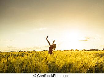 Girl on sunset