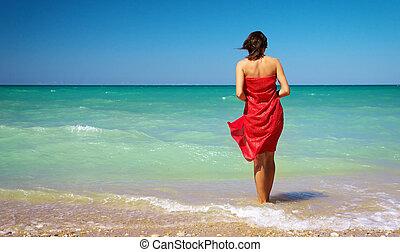 Girl on the beach