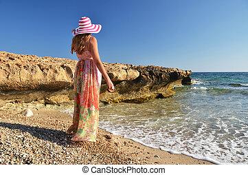 Girl on the beach, Cyprus