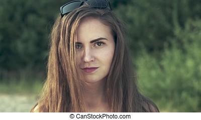 girl on the beach portrait