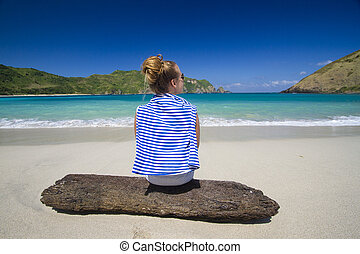 girl on the bech