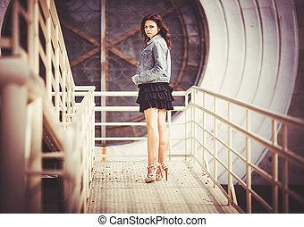 Girl on the Bridge