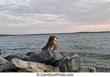 girl on the coast