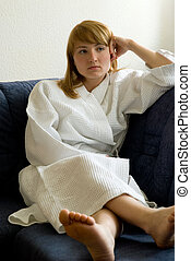 girl on the couch