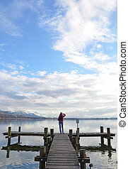 Girl on the jetty