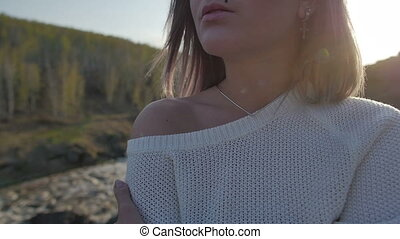 girl on the nature close up