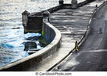 girl on the old waterfront
