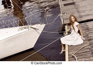 Girl on the pier