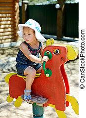 girl on the playground