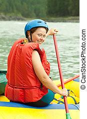 Girl on the raft