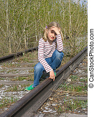Girl on the rails