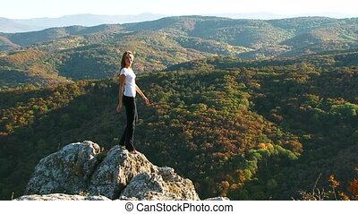 Girl On The Rock