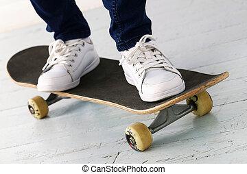 Girl on the skateboard