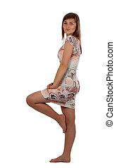 girl on the slinky dress