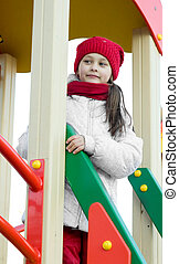 girl on the sports ground