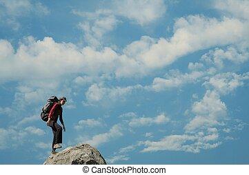 Girl on the summit