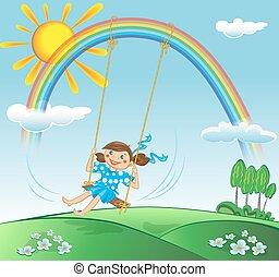 Girl on the swing