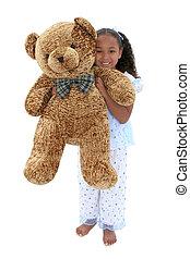 girl, ours, enfant