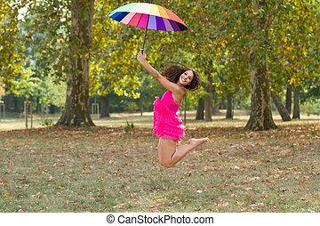 girl outdoor fun