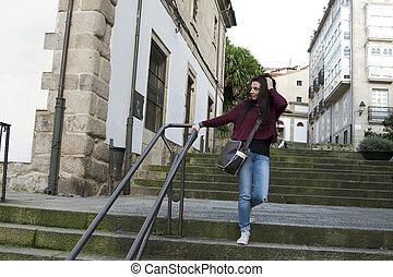 girl outdoor in the city