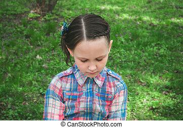 girl outdoors in summer