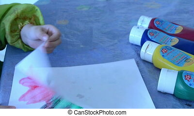 girl paint gouache