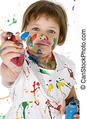 girl, peinture