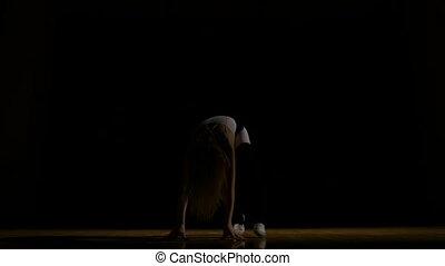 Girl performing contemporary art dance