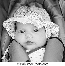 girl, peu, baby-seat