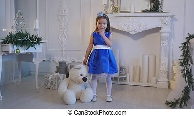 girl, peu, tenue, ours, teddy
