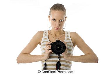 Girl photographer