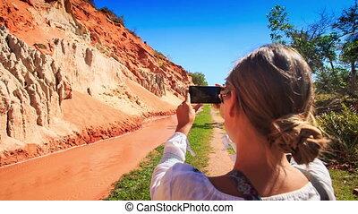 Girl Photos Stony Wind Speckled Bank of Fairy Stream -...