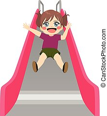 Girl Pink Slide