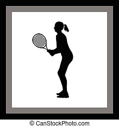 girl play tennis