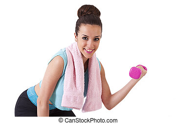 girl playing sports towel