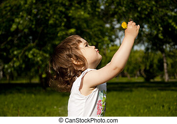 girl plays park