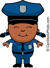 Girl Police Officer - A cartoon illustration of a police ...