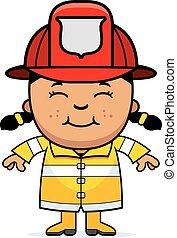 girl, pompier