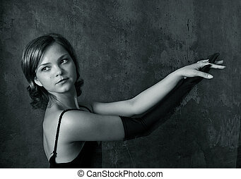 girl, portrait, -, 4, beau