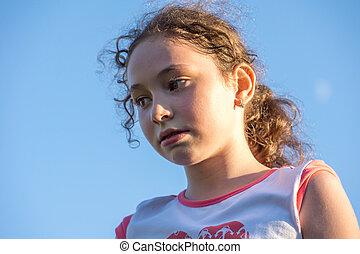 girl, portrait, female, beautiful, child, white, childhood